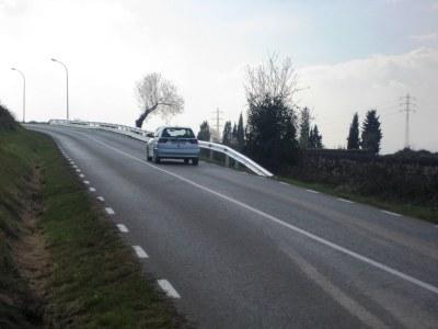 Es buscaran suports per millorar la seguretat dels vianants a la carretera de Moja a Vilafranca