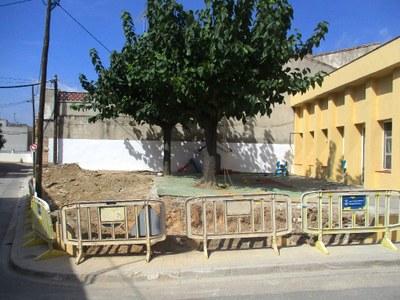 L'Ajuntament d'Olèrdola canvia la tanca del pati de l'escola bressol Gotims de Moja