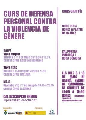 L'Ajuntament d'Olèrdola organitza un curs gratuït de defensa personal contra la violència de gènere