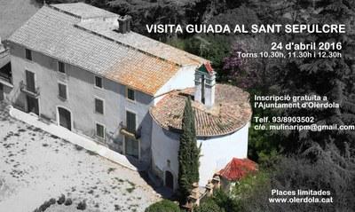 L'Ajuntament d'Olèrdola organitza visites guiades al Sant Sepulcre el diumenge 24 d'abril