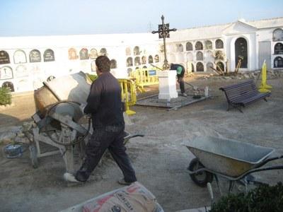 L'Ajuntament d'Olèrdola realitza obres de millora al cementiri de Moja