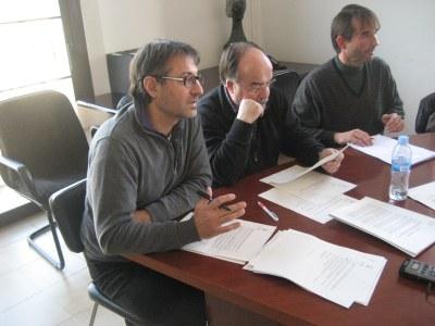 Xavier Serramià, regidor d'ensenyament, en un moment del ple