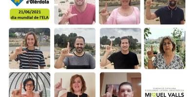 L'Ajuntament d'Olèrdola recolza la campanya de suport a les persones afectades per l'ELA