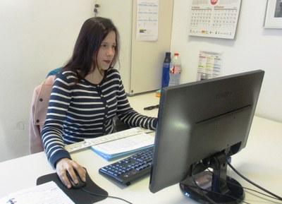 Sandra Menchón es va incorporar treballa a l'Ajuntament des del mes de desembre