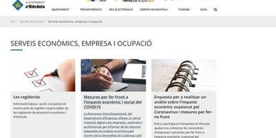 L'Ajuntament difon les mesures adoptades per l'Estat i la Generalitat per fer front a l'impacte econòmic i social de la COVID-19