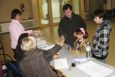 Imatge d'arxiu d'una votació a Sant Miquel