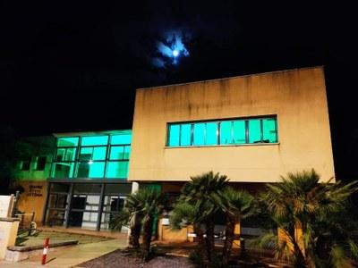 L'Ajuntament il·lumina de verd tres edificis en suport a les persones afectades per ELA