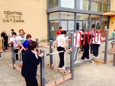 L'Ajuntament organitza sessions guiades a l'espai lúdic per a la gent gran de Sant Pere Molanta