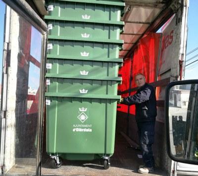 Els nous contenidors els ha rebut l'Ajuntament aquest dimecres