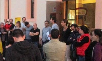 L'alcalde, Lucas Ramírez, intervenia dimecres en una concentració en defensa de la democràcia