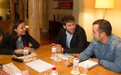 Mercè Conesa, Lucas Ramírez i Juanma Samblás