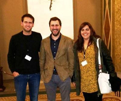 Lucas Ramírez, alcalde d'Olèrdola; Antoni Comín, conseller de Salut; i la regidora de sanitat, Eva Ruiz