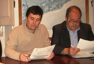 Josep Tort i Josep Maria Sánchez, en el darrer ple