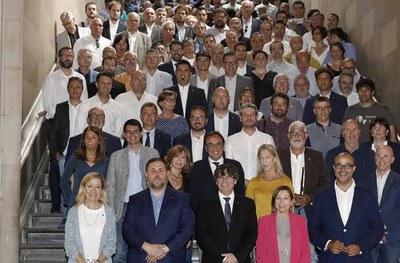 L'alcalde participava l'1 de juliol en un acte de suport al Referèndum