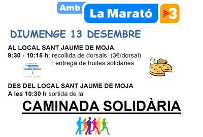 L'AMPA de l'escola Circell i el Grup de Joves de Moja organitzen una caminada solidària per La Marató de TV3