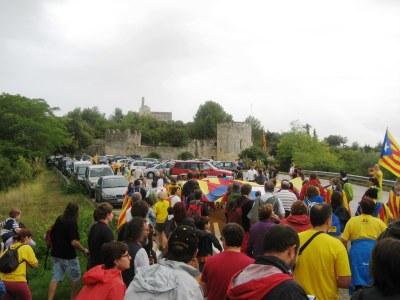 Pujada al castell convocada per l'ANC l'any passat