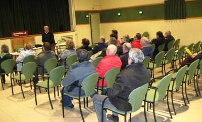 Imatge de la xerrada a Sant Pere Molanta