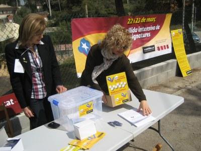 L'ANC porta a Daltmar i a Can Trabal la campanya de signatures per la independència