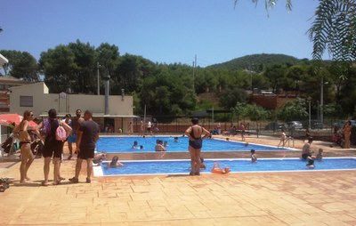 La piscina ha obert per la Festa Major i la setmana passada