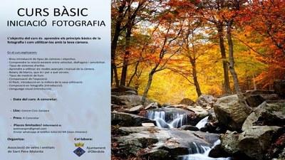 L'Associació de Veïns i entitats de Sant Pere Molanta prepara un curs bàsic d'iniciació a la fotografia