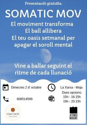 L'Ateneu Mogenc convoca una sessió gratuïta del taller de Moviment Somàtic