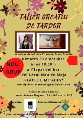 L'Ateneu Mogenc obre inscripcions per participar el proper dimarts en un nou grup del taller creatiu floral
