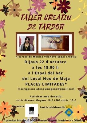 L'Ateneu Mogenc organitza pel proper dijous 22 d'octubre un taller de decoració floral