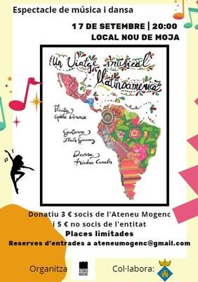 L'Ateneu Mogenc organitza pel proper divendres 17 de setembre un espectacle de música i dansa al Local Nou