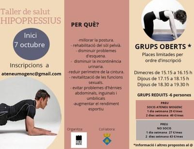 L'Ateneu Mogenc organitza tallers de salut d'hipropressius