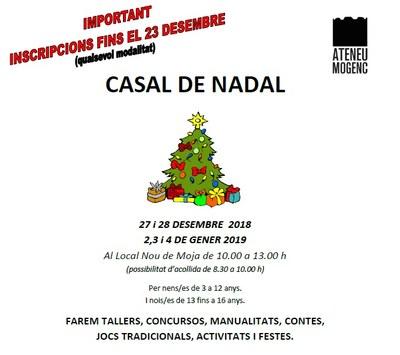 L'Ateneu Mogenc organitza un Casal de Nadal