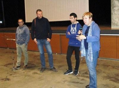 Mercè Garcia va exposar dissabte algun dels trets de la trajectòria del mestre Robreño a Moja