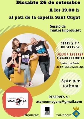 L'Ateneu Mogenc programa aquest dissabte un espectacle presencial d'improvisació amb el grup Impro Acatomba