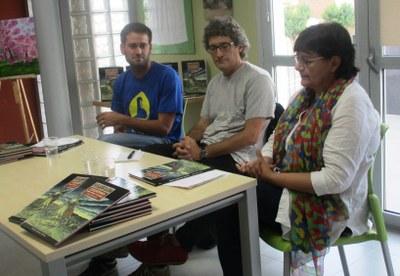 Lucas Ramírez, Oriol Garcia Quera i Núria Molist, durant la presentació