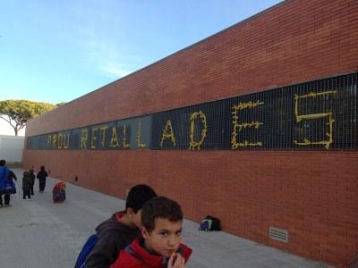 L'escola Circell ha participat en una convocatòria reivindicativa contra les retallades