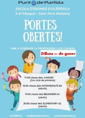 L'Escola d'Idiomes d'Olèrdola convoca una jornada de portes obertes el dilluns 21 de gener