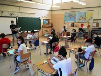 Els alumnes de 6è de l'escola Circell estan anant a escola presencialment els dimecres d'aquest mes de juny