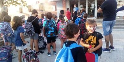 L'excepcional  curs escolar 2020-21 s'inicia a Olèrdola amb ordre i fluïdesa