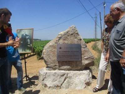 L'homenatge a Josep Raventós Valldosera esdevé un sentit al.legat a favor de la memòria històrica