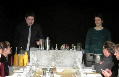 Moment del taller, amb Xavi Roig i Montse Mitjans(foto: Cal Feru)