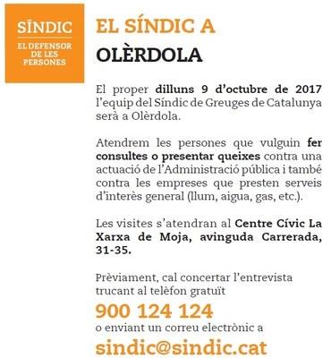 L'oficina del Síndic de Greuges visita dilluns Olèrdola