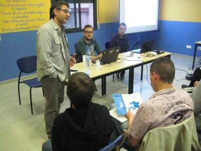 Xavier Serramià, regidor de TIC, durant la xerrada d'aquest dijous