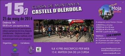 """La 15a Cursa """"Castell d'Olèrdola"""" preveu reunir aquest diumenge a més de 150 participants"""