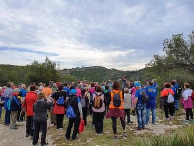 """La caminada """"A cent cap als cent"""" ha fomentat salut i activitat social entre veïns d'Olèrdola, Santa Margarida i els Monjos, Torrelles de Llobregat i Badia del Vallès"""