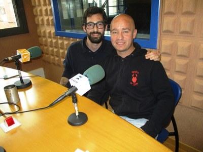 Oriol Díaz i Diego Búrdalo, dos dels organitzadors