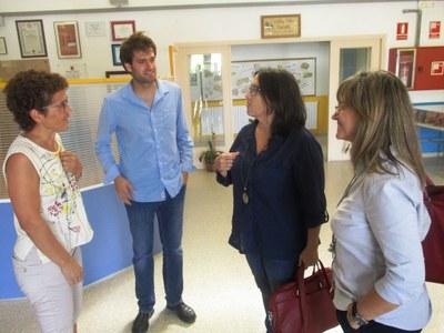 Al centre, l'alcalde, Lucas Ramírez; i Lluïsa Nicolau
