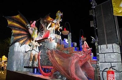 La carrossa, dissabte a Calafell(Foto:Aj. Calafell)