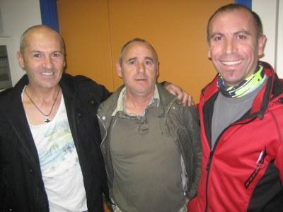Juan Mancebo, Adrià Marín i Jordi Álvarez són els tres promotors de la cursa