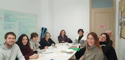 Imatge d'una de les reunions de treball per elaborar el Pla