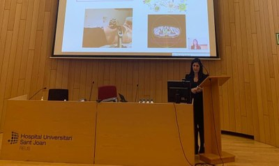 Meritxell Arenas, durant la presentació del seu projecte docent, investigador i assistencial