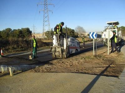 La finalització de les obres del carril bici de Moja-Vilafranca, pendent del Ministeri de Foment